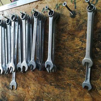 Die Selbsthilfewerkstatt hält alles nötige Werkzeug bereit.