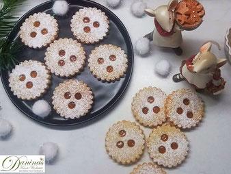 Ischler Kekse/Plätzchen, Konditor-Rezept by Daninas Dad. Traditonelle österreichische Weihnachtsbäckerei.