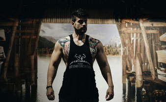 Fitness, gym, lifestyle, blog, aesthedicated, team, b2ad, athlete, gnbf, wff, tanktop, symmetrycut, camogreen