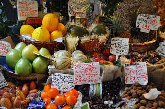 Auswahl von Südfrüchten