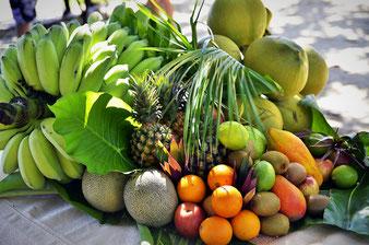 Auswahl exotischer Früchte