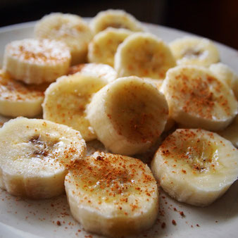 Banane pur mit Zimt