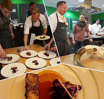 Begleitung des Küchenteams um Küchenchef Tobias Bätz vom Restaurant Alexander Herrmann in Wirsberg beim 13. CookTank der Sternefresser in Kulmbach