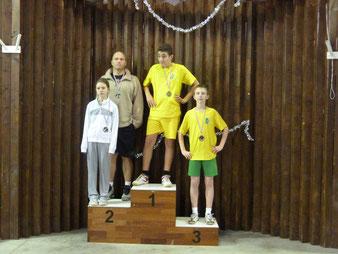 Le podium de double, sans Ugo et Ludovic