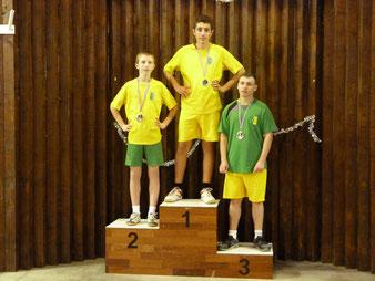 Le podium de simple