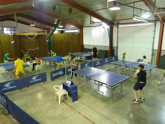 La salle en plein tournoi
