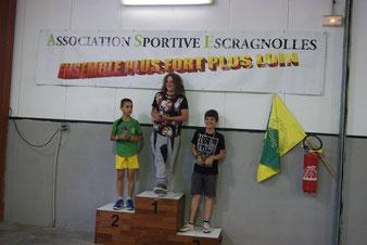 Podium jeune: Diego, Léo, Ludo