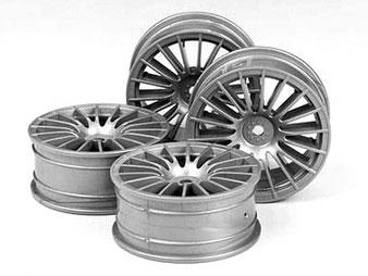 silberne Speichenfelgen für RC Modellautos