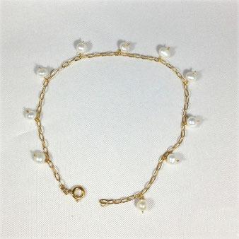 Perles fines sur chaîne gold-filled