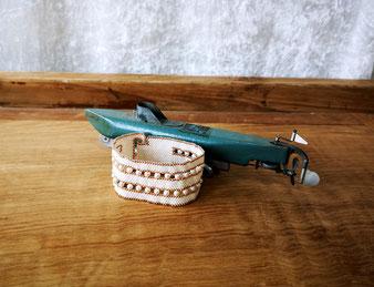 Manchette ivoire perles fines