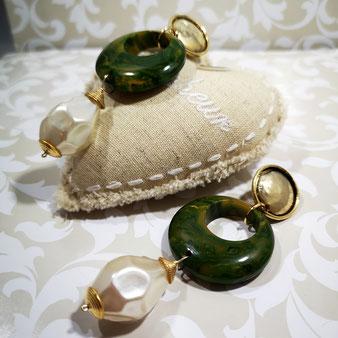 Boucles d'oreille perle de culture