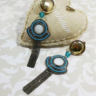perles brodées Lunéville bijou