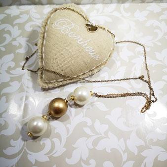 Trio de perles et or, sautoir Aux Dames de Jadis