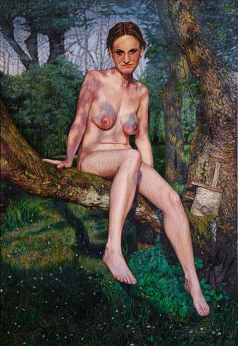 Sophia Konstanze Rüthel, Selbstportrait,  100 x 70 cm, Öl auf Leinwand, 2013