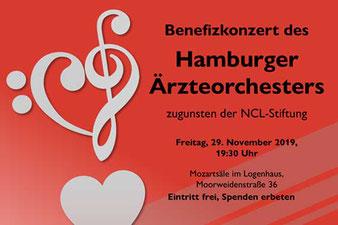 Benefizkonzert des Hamburger Ärzteorchesters zugunsten der NCL-Stiftung