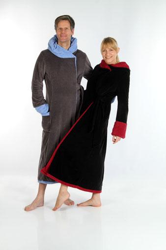 kuscheliger weicher Frottee Damen Bademantel 100% Baumwolle Luxus Bademantel auf Maß Maßanfertigung Saunamtel Wellnessmantel