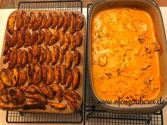 Hähnchen Gyros mit Kartoffel Wedges aus dem Grundset, Ofenhexe  und Zauberstein aus dem Pampered Chef Onlineshop bestellen