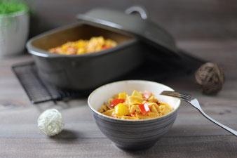 One Pot Pasta Hirtentopf Nudeln Nudelauflauf im Pampered Chef Ofenmeister aus dem Onlineshop
