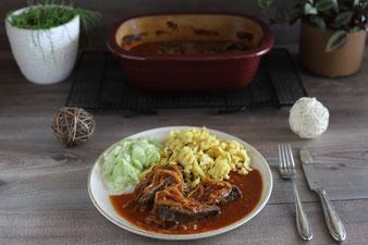 Barbecue Rinderbraten im Ofenmeister oder Zaubermeister von Pampered Chef