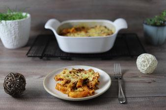 Rigatoni al forno für Eilige mit ungekochten Nudeln als Nudelauflauf
