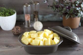 Kartoffeln im kleinen Zaubermeister oder Ofenmeister kochen
