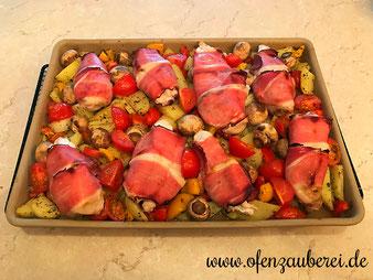 Hähnchen Gemüse Blech auf dem Ofenzauberer vom Pampered Chef Onlineshop