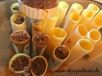 Cannelloni mit Hackfleischmischung und Béchamelsoße in der Ofenhexe aus dem Pampered Chef Onlineshop