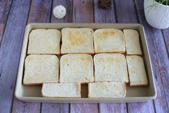 Toast Calabrese, Tomaten Mozzarella überbacken im Ofenzauberer von Pampered Chef