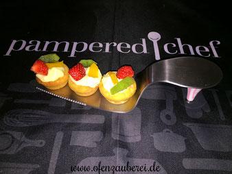 Obst Creme Törtchen aus der Mini Muffinform von Pampered Chef im Onlineshop kaufen