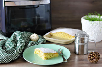 Kuchen im Deluxe Airfryer von Pampered Chef aus dem Pampered Chef Onlineshop