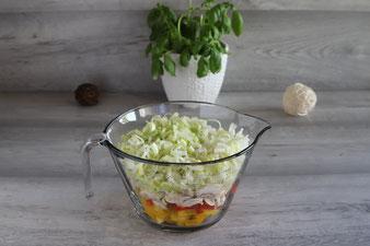 Gemüse in der großen 2 Liter Nixe von Pampered Chef
