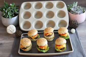 Mini-Burger aus dem 12-er Snack Muffinform im Pampered Chef Onlineshop kaufen
