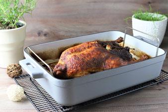 Emaillierte gusseiserne Grillpfanne mit Edelstahlrost aus dem Pampered Chef Onlineshop bestellen