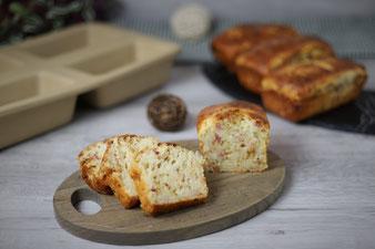 Zwiebel-Speck-Brote in der Mini-Kastenform von Pampered Chef