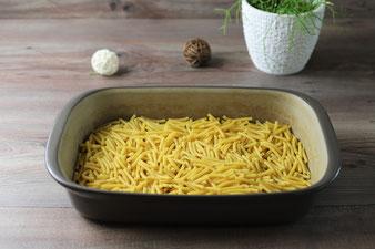 Ungekochte Makkaroni in der Ofenhexe von Pampered Chef