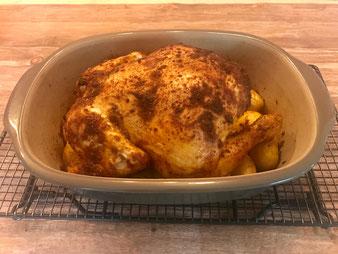 Hähnchen Brathähnchen Huhn im Ofenmeister oder Zaubermeister aus dem Pampered Chef Onlineshop bestellen