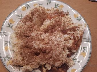 Milchreisauflauf Milchreis Auflauf Süßspeise aus der Stoneware rund, Ofenhexe oder Zaubermeister und Ofenmeister im Pampered Chef Onlineshop bestellen