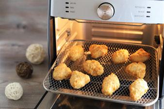 Fischstäbchen oder Backfisch-Happen im Airfryer