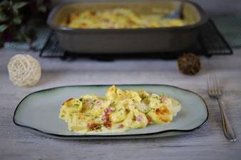 Käse-Sahne-Tortellini in der Ofenhexe von Pampered Chef