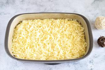 Bratwurst Kartoffelbrei Gratin in der Ofenhexe von Pampered Chef aus dem Onlineshop