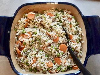 Vegetarischer Auflauf Gemüse Reis aus dem Bäker, Ofenhexe oder Ofenemeister im Pampered Chef Onlineshop kaufen