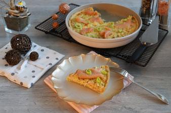 Lachskuchen mit Lauch aus der runden Ofenhexe im Pampered Chef Onlineshop bestellen