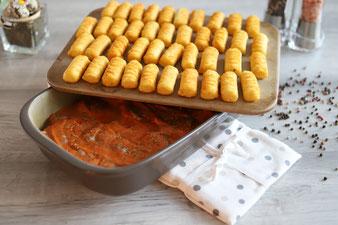 Schlemmerfilet Filettopf Schweinefilet Schweinemedaillons mit Soße und Kroketten im Pampered Chef Grundset online im Onlineshop bestellen