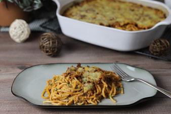 Spaghetti-Auflauf im großen Bäker von Pampered Chef aus dem Onlineshop