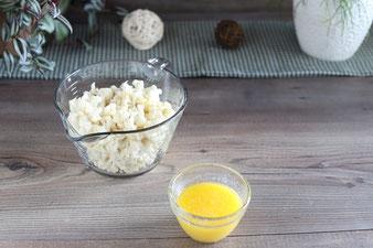 Geschmolzene Butter in der kleinen Elfe von Pampered Chef
