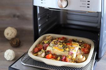 Schafskäse, Weichkäse oder Feta gebacken im Airfryer