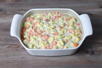 Tortellini mit Lachs in Sahnesauce aus dem großen Bäker, bestellbar im Pampered Chef Onlineshop