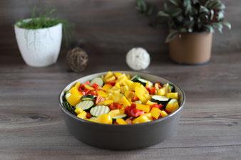 Gemüse in der Stoneware rund von Pampered Chef
