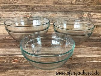 Glasschüsseln 3-er Set von Pampered Chef aus dem Pampered Chef Onlineshop