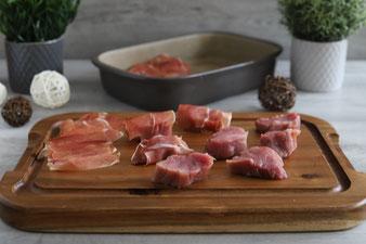 Filet Topf Toskana Schweinemedaillons Schweinelende Schweinefilet in der Ofenhexe und Grundset mit Kroketten auf dem Zauberstein im Pampered Chef Onlineshop kaufen
